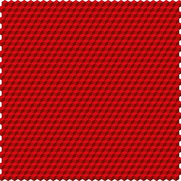 3D Cube pattern red by Graphic-T