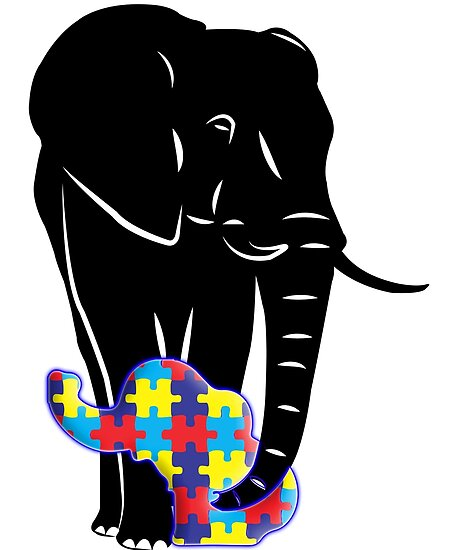 ee2238c06362 Autism Awareness Elephant T Shirt