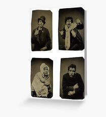 Many faces of an actor Greeting Card