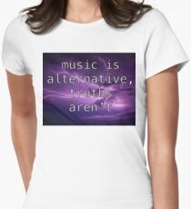 Listen To Music And Call Out Stuff  Women's Fitted T-Shirt