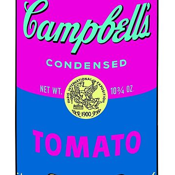 Andy Warhol pop art campbell soup can print by jasmineGold