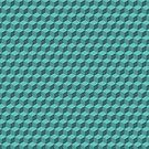 3D Cube pattern blue-green by Graphic-T