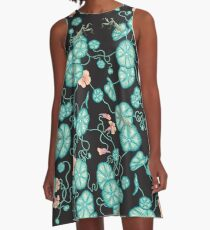 Mantises and Indian cress  A-Line Dress