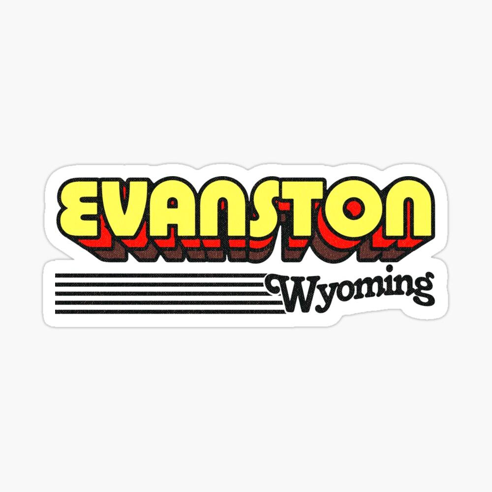 Evanston, Wyoming | Retro Stripes Sticker