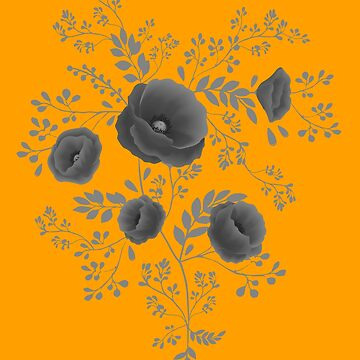 Black poppy graphic by LilaVert