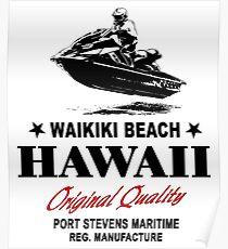 Hawaii - Honolulu - Jetski Poster