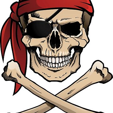 Jolly Roger pirate skull and crossbones by Noedelhap