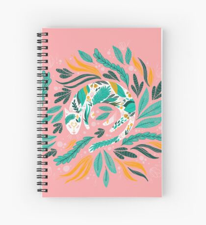 Floral Kitty Spiral Notebook