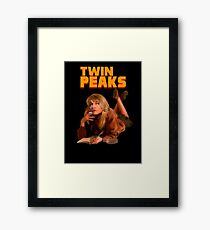 Twin Peaks Fiction (Pulp Fiction parody) Framed Print