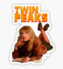 Twin Peaks Fiction (Pulp Fiction parody) Sticker