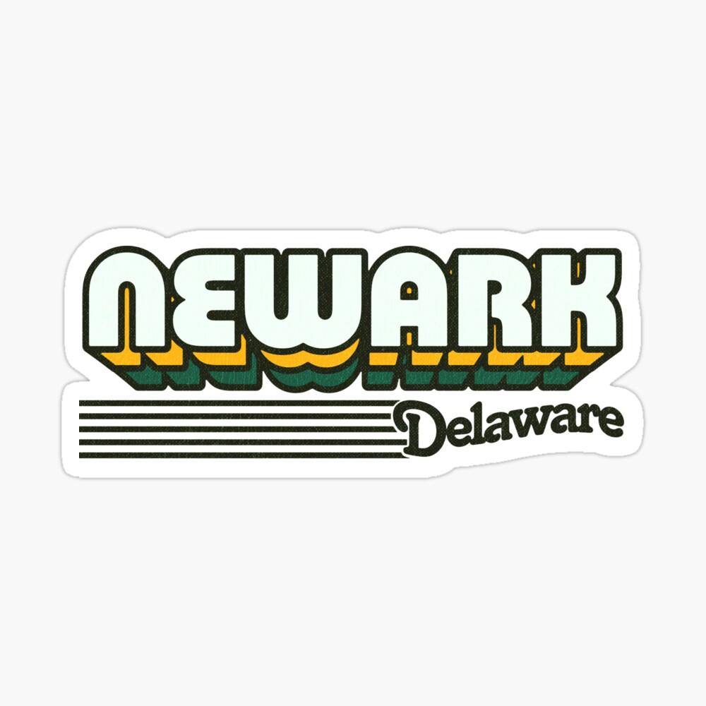 Newark, Delaware | Retro Stripes Sticker