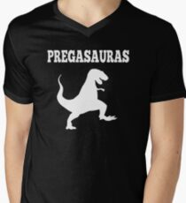 Pregasaurus - Pregnant Men's V-Neck T-Shirt