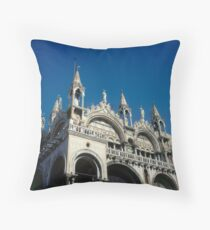 Italy Venice St Mark' s Basilica Throw Pillow
