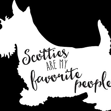 Scotties are my favorite people in white by starstreamdezin