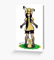 Mimikyu gijinka Greeting Card