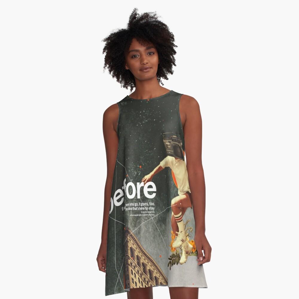 Vor A-Linien Kleid