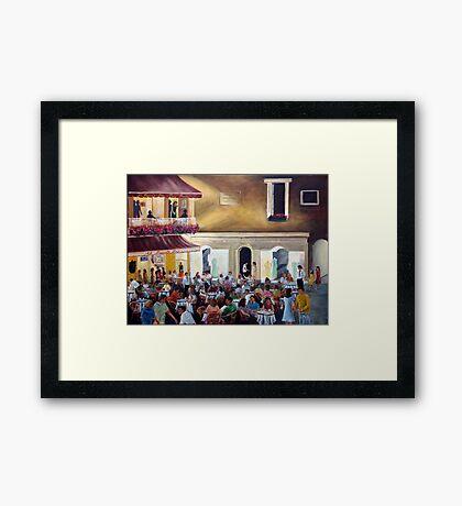 `Al Piccolo Bar' at night - in Piazza Umberto - Capri Framed Print