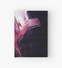 Abstract Painting in Purple, White and Pink - Untitled 18 Hardcover Journal