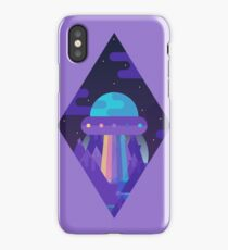 ROYGBIV Flying-Saucer iPhone Case