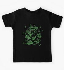 Military Forces Line Art  Kids Tee