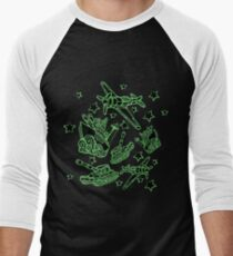 Military Forces Line Art  Men's Baseball ¾ T-Shirt