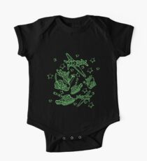 Military Forces Line Art  Short Sleeve Baby One-Piece