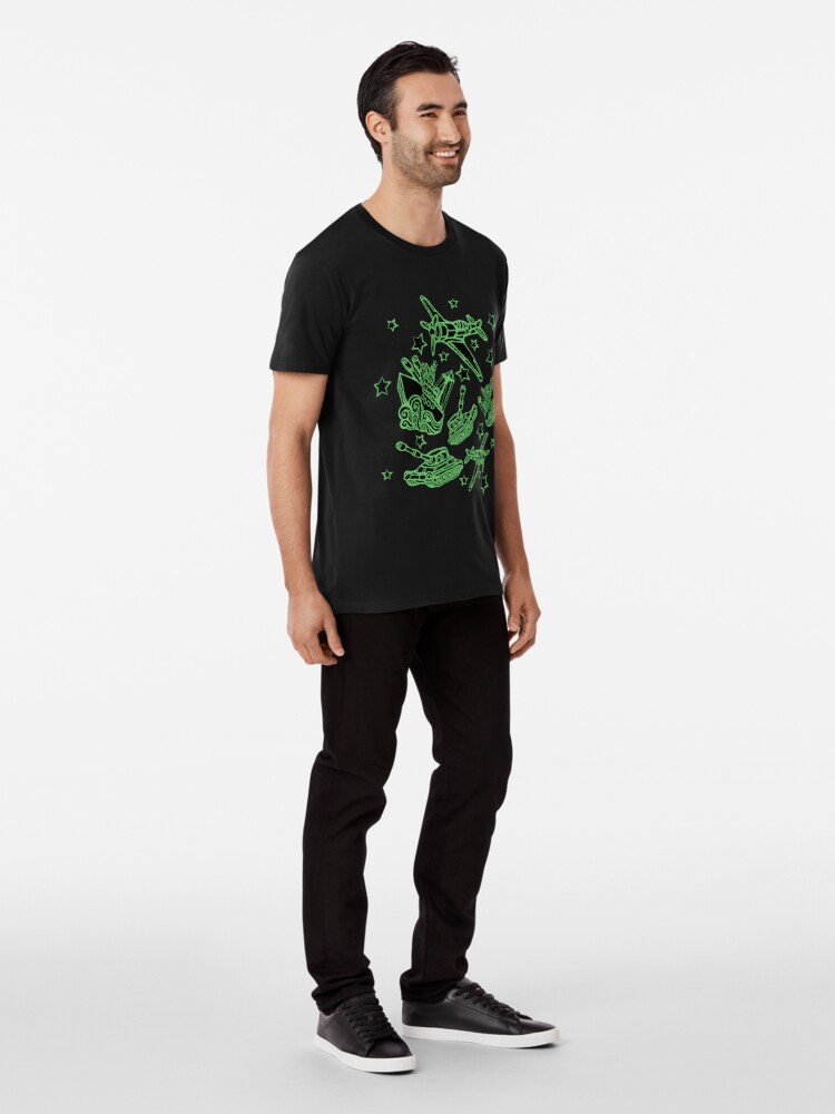 Alternate view of Military Forces Line Art  Premium T-Shirt