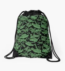 Military Forces Line Art  Drawstring Bag