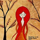 Wandering in red by Nadine Feghaly