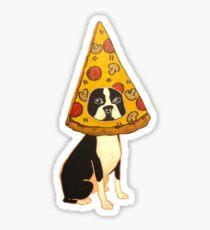 Boston Terrier Pizza Dog Sticker