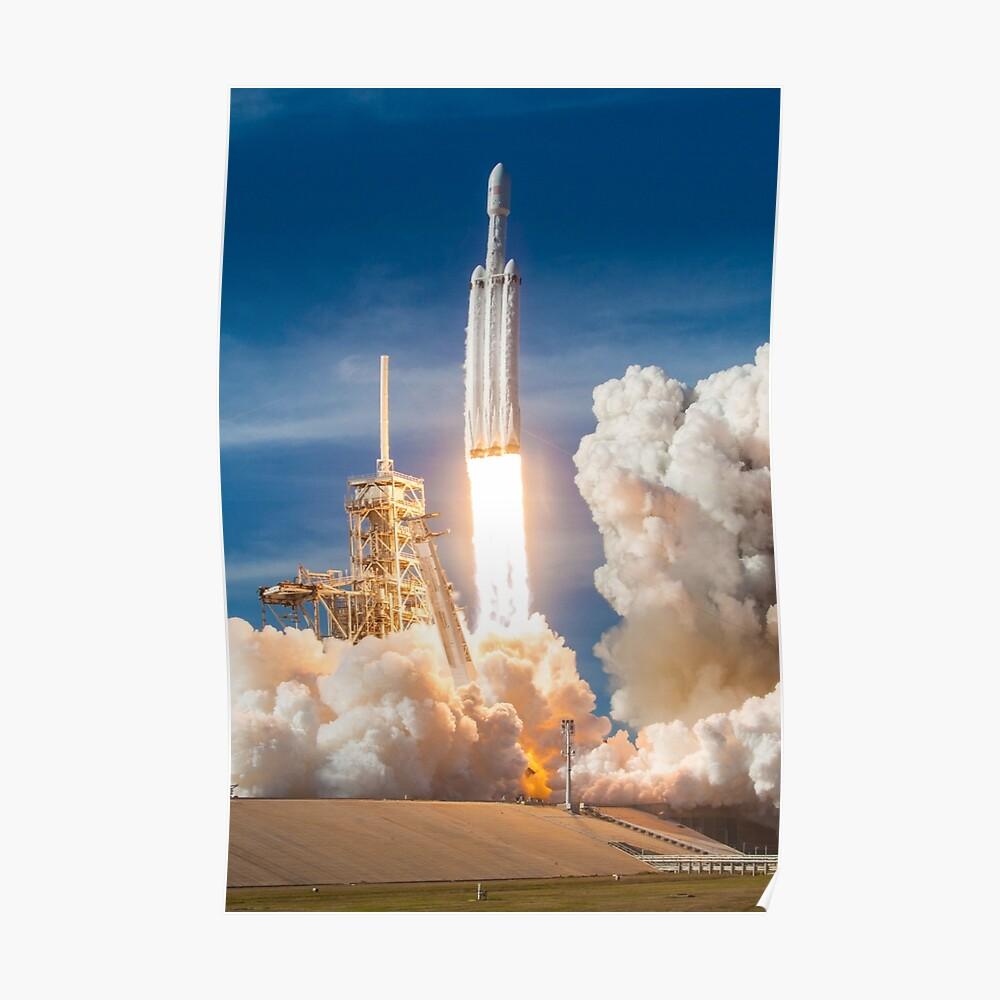 SpaceX Falcon Heavy Liftoff (resolución 8K) Póster