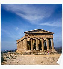 Temple of Concordia Valley of the Temples Agrigento Sicily Italy Poster