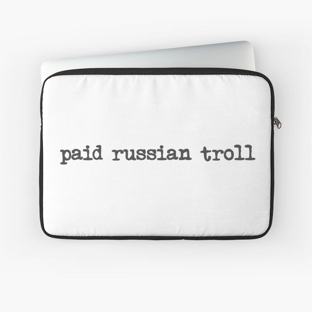bezahlter russischer Troll Laptoptasche