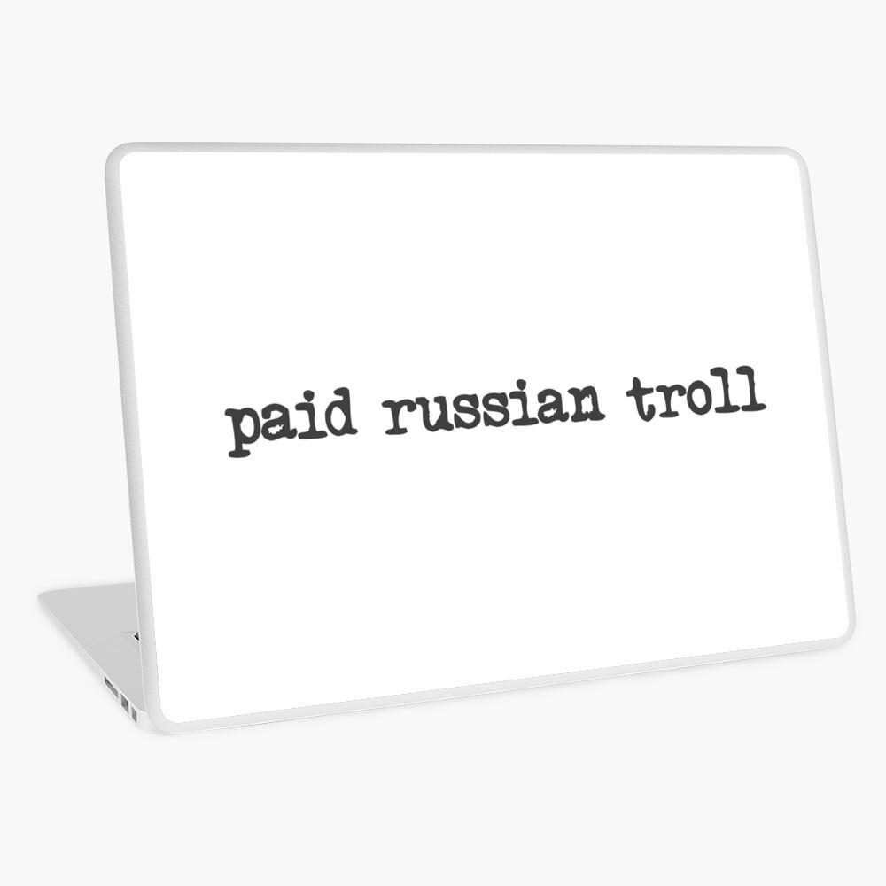 bezahlter russischer Troll Laptop Folie