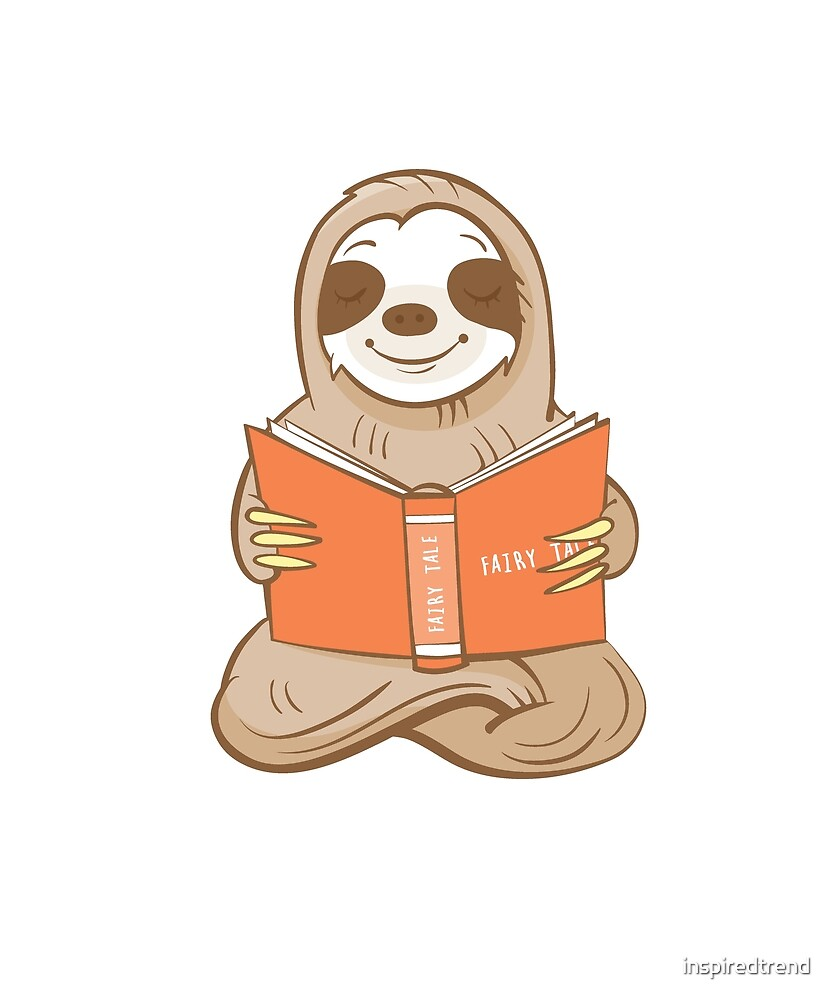 Reading is Lit Funny Sloth Readers School Teachers Students