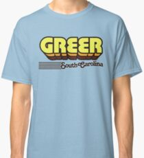 Greer, South Carolina | Retro Stripes Classic T-Shirt