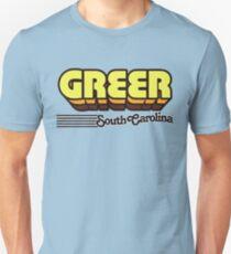 Greer, South Carolina | Retro Stripes Unisex T-Shirt