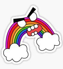 angry zombie rainbow Sticker