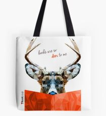 """Books are so deer to me"" - Animal Booklove Tote Bag"