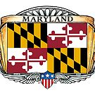 Maryland Art Deco Design with Flag by Cleave
