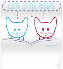 Cute Little Pussies  Poster