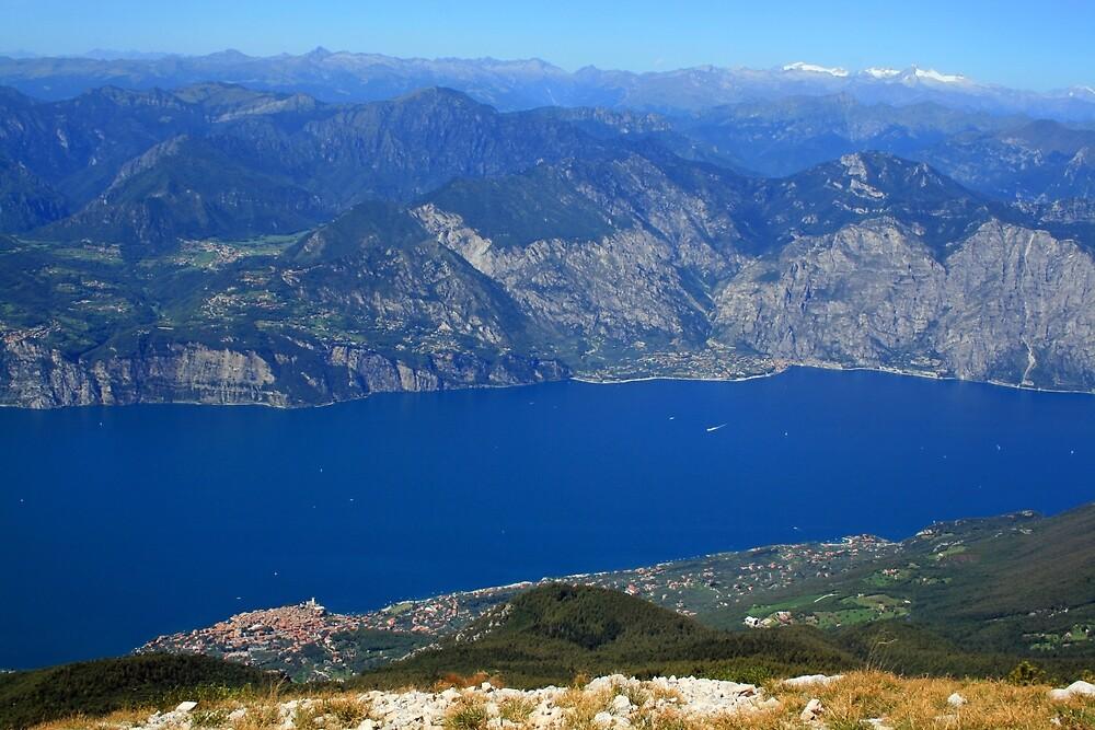 Looking Down On Lake Garda by RedHillDigital