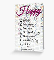Happy Whatever Greeting Card Greeting Card