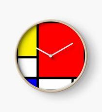Homage to Mondriaan Clock