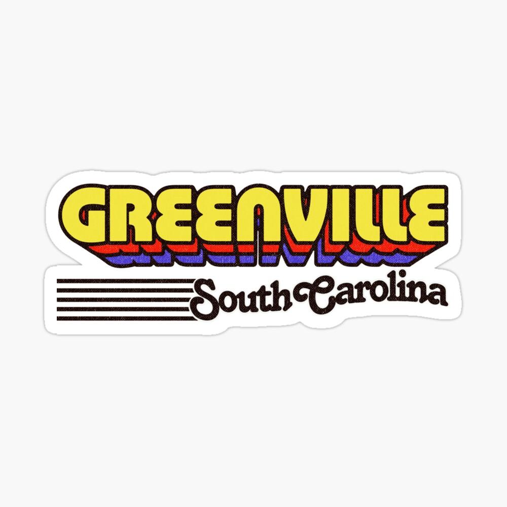 Greenville, South Carolina | Retro Stripes Sticker