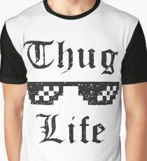 Thug life glasses print Graphic T-Shirt