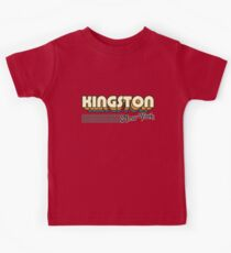 Kingston, New York | Retro Stripes Kids Tee