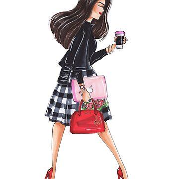 fashion illustration girl boss by reyniramirezfi