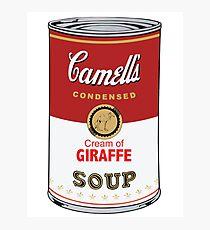 CAMELL'S Cream of GIRAFFE Soup Pop Art Photographic Print