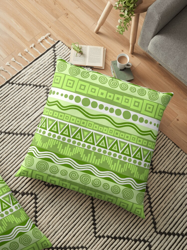 Boho Chic Tribal Greenery Pattern by theartofvikki